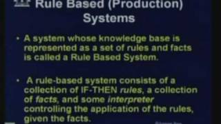 Lecture - 16 Rule Based System