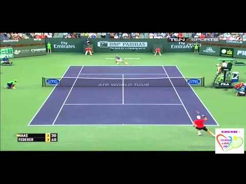 Roger Federer vs Tommy Haas Highlights BNP Paribas Open 2014
