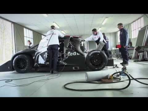 Sebastien Loeb first test drive of the Peugeot 208 T16 Pikes Peak car