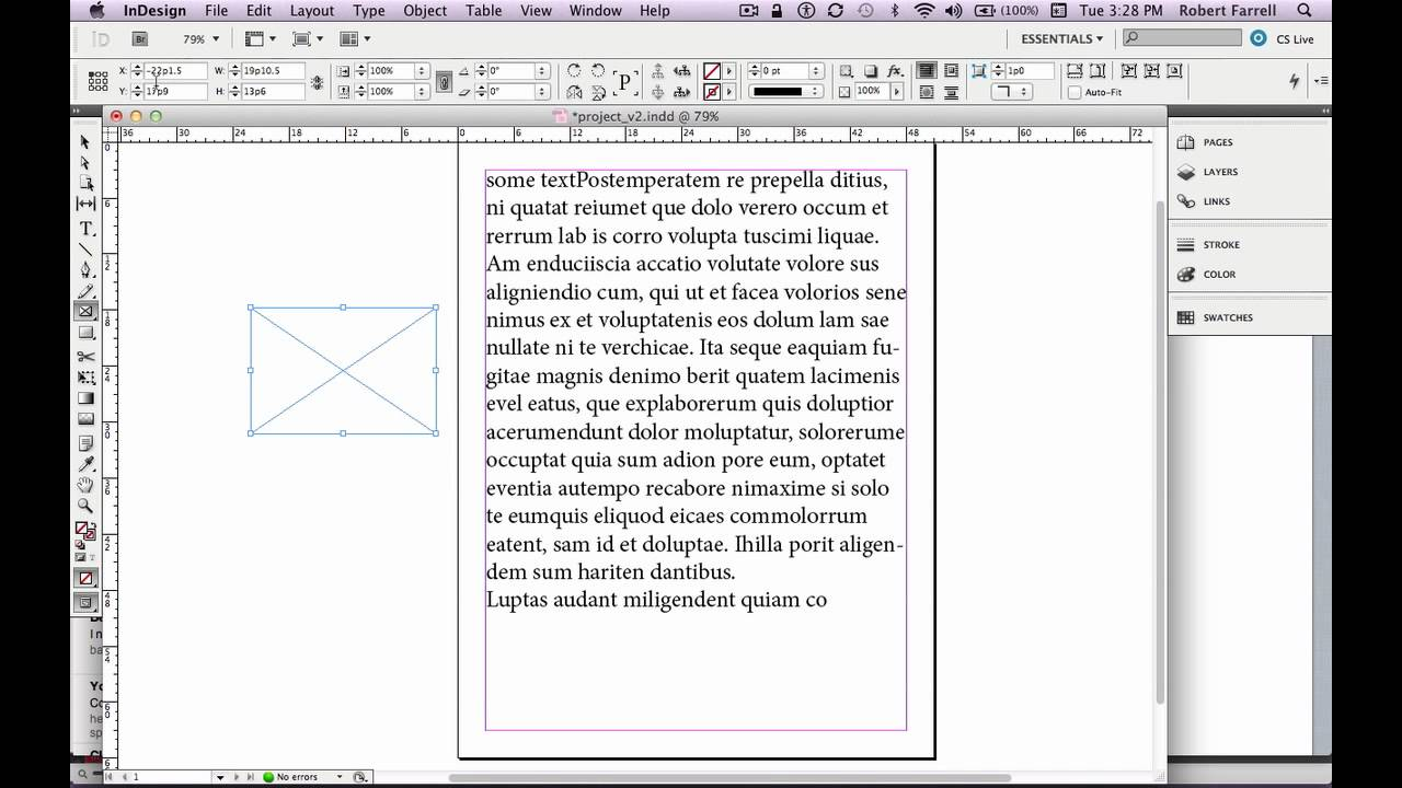 adobe indesign cs5 5 tutorial getting started part 1