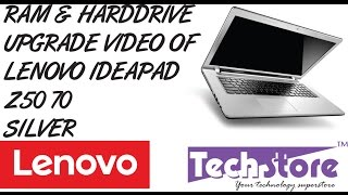 Lenovo Z50 70 How to upgrade ram and harddrive easy diy method