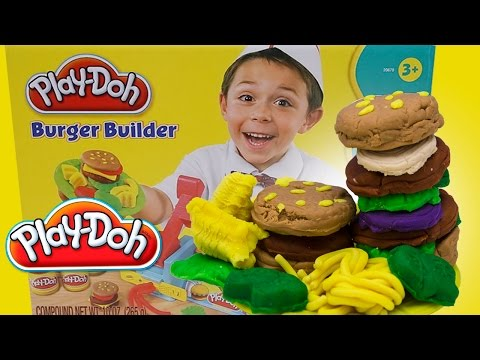 Play Doh Hamburger Burger Builder Play Dough Review by Unboxingsurpriseegg