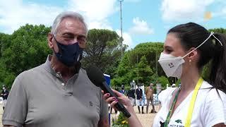 Presidente FIGC Gabriele Gravina a CSIO di Roma - Piazza di Siena