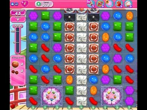 Candy Crush Saga Level 378 - NO BOOSTER