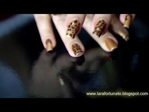 Tutorial unhas Onça (Nail Art)
