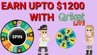 How to earn money  upto $1200 || Qriket live game show || earn online || hindi ||