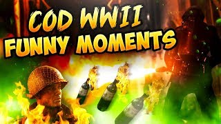 COD WW2 Funny Moments - Farting on enemies & Burning em up!