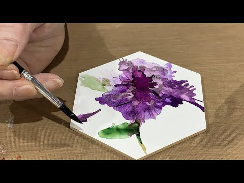 How to Paint a Flower using Alcohol Inks - Creativation 2020