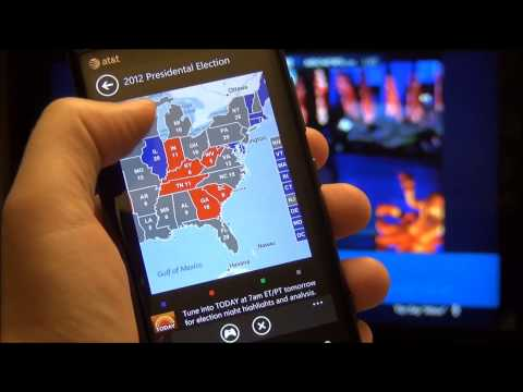 Microsoft SmartGlass in Action: US Elections 2012 [Xbox 360 + Windows Phone 8]