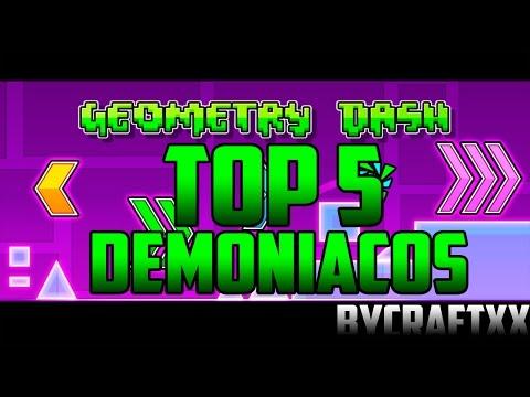TOP 5 NIVELES DEMONÍACOS MÁS FÁCILES DE GEOMETRY DASH! - Bycraftxx