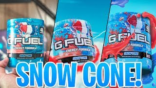 NEW G-Fuel SNOW CONE COLLECTORS BOX First Look AND Taste Test! - WITH G-FUEL 2GO SCOOPER AND SHAKER!