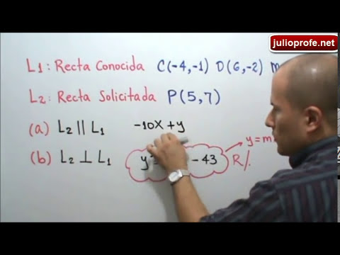 Recta paralela y perpendicular a otra recta-Line parallel and perpendicular to another line