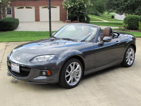 2014 / 2015 Mazda MX-5 Miata Grand Touring Start Up. Exhaust. Test Drive. and In Depth Review