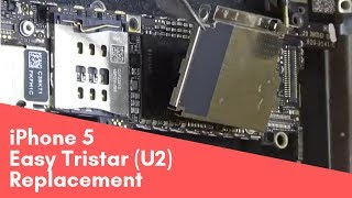 iPhone 5, легкая замена U2 Tristar easy replacement