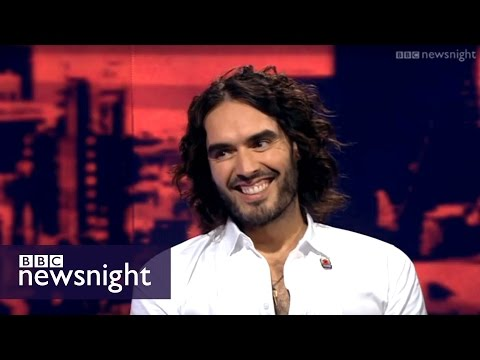 'i Don't Trust Politicians & Corporations In This Country' Russell Brand - Newsnight video