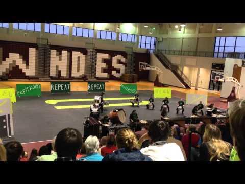Lowndes High School Indoor Drum line-2014 Repeat