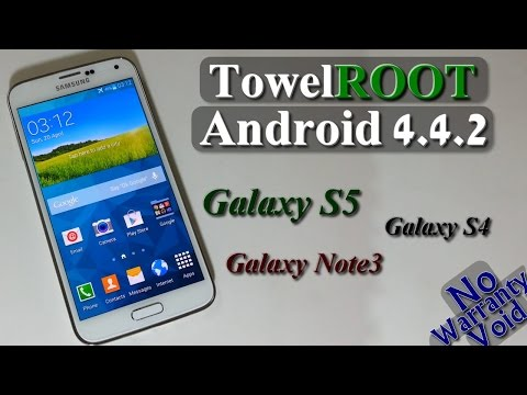 How to Root Galaxy S5. S4. Note 3 on [NF+] Android 4.4.2 (TowelRoot)
