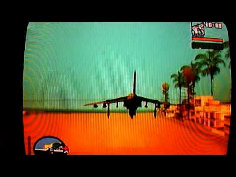 how to fly the hydra in gta san andreas ps2