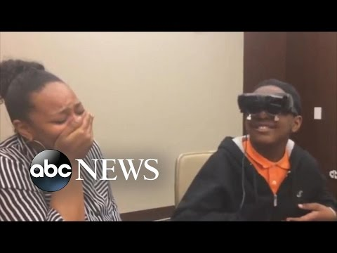 A Legally Blind Tween Sees His Mother for the First Time