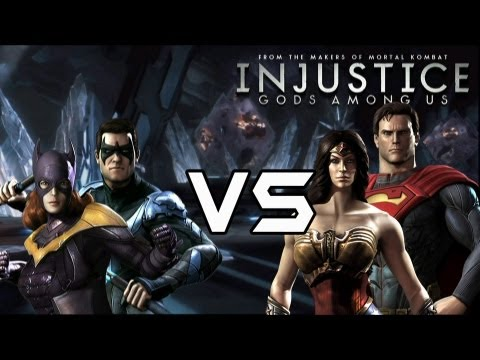 Injustice Gods Among Us - Classic Vs New 52 couples with Lore & Skins