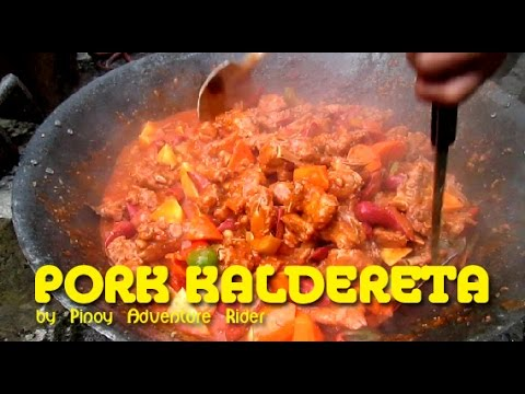 Pinoy Pork Kaldereta cooked at the Backyard ~ Dec.2016