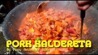 Pinoy Pork Kaldereta cooked at the Backyard ~ Dec.2016