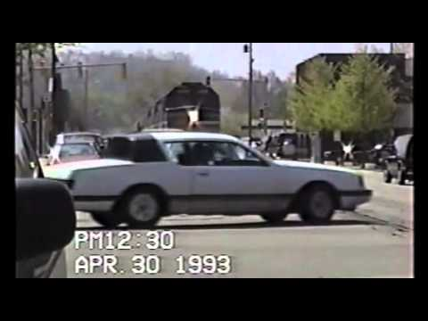 Amtrak Street running in Lafayette Indiana 04-30-93