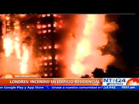 Grave incendio en edificio en Londres