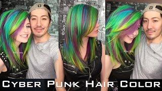 Cyber Punk Hair Color