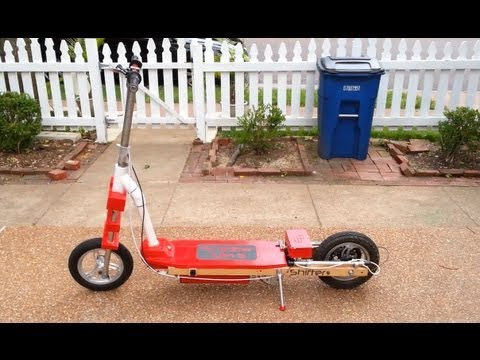 Razor Electric Scooter >> Homemade Electric Motor Scooter - 2 Speed - YouTube