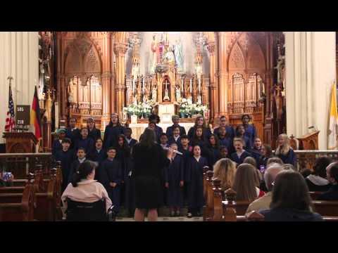 Metro Catholic School sings Holy Mary - 05/09/2014