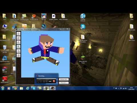 Como baixar e utilizar o Minecraft Skin Viewer-Minecraft Tutorial 06