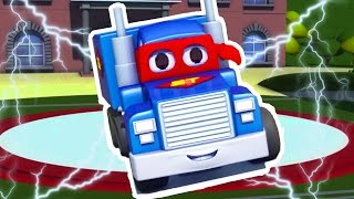Carl the Super Truck and the Mini Truck in Car City | Cars & Trucks Cartoon for kids