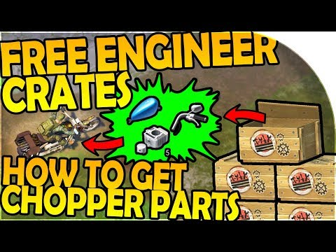 HOW TO GET FREE ENGINEER CRATES + CHOPPER PARTS for CHOPPER- Last Day on Earth Survival Update 1.6.0