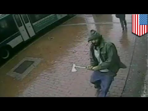 Jihad In America? Man Shot Dead After Attacking Police With Axe On Jamaica Avenue In Queens video