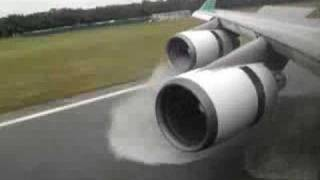 Boeing 747 - 400 Landing and Reverse Thrust - Eva Air