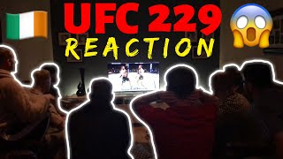 UFC 229 | IRISH FANS REACTION