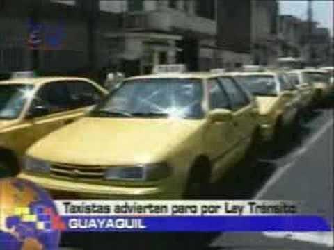 Taxistas advierten paro por ley de tránsito