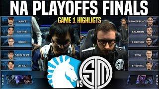 TL vs TSM Game 1 Highlights LCS Playoffs Final - Team Liquid vs Team SoloMid Game 1 Highlights LCS