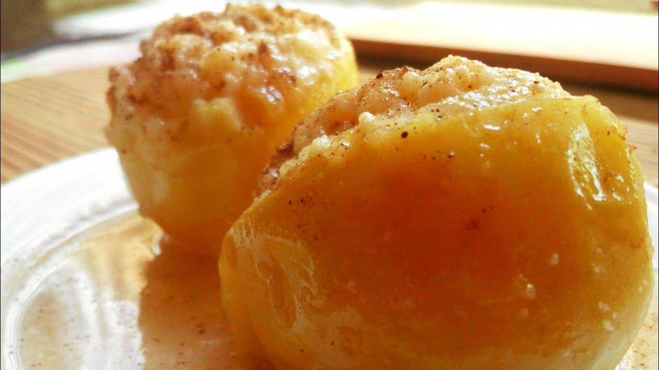 Печёные яблоки в духовке рецепт диетические