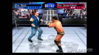 smackdown 2 la roca  (the rock) vs undertaker PC Psx