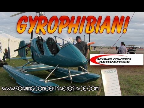 AutoGyro MTO Gryoplane. Gyrophibian amphibious AutoGyro. Soaring Concepts Aerospace.