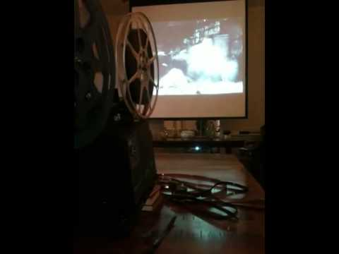 16mm projector as a film prop