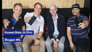 Huawei Mate 20 Pro Hands-On in der 1&1 Blogger-WG (deutsch)