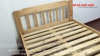 Giường ngủ 2 tầng trẻ em HAPPY HOME - Đồ Gỗ Xuất Khẩu Quận 4 TP HCM