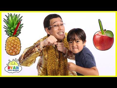 PPAP(Pen Pineapple Apple Pen) Challenge Ryan VS PIKOTARO