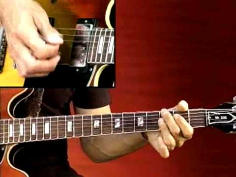 Blues Guitar Lesson - Larry Carlton - 335 Blues - Stormy Blues, Key of A: Rhythm