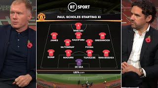 Scholes and Hargreaves pick their best possible current Man Utd XI