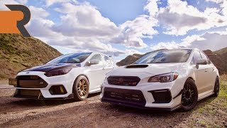 Big Turbo 400HP Subaru STI vs. Tuned E85 Ford Focus RS | Tuner Shootout!