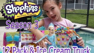 Shopkins Season 3 Ice Cream Truck and 12 Pack